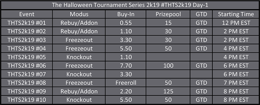 Halloween Tournament Series Day 1