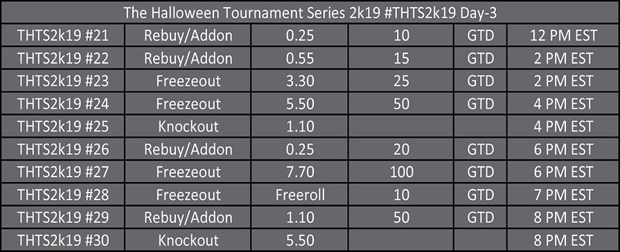 Halloween Tournament Series Day 3