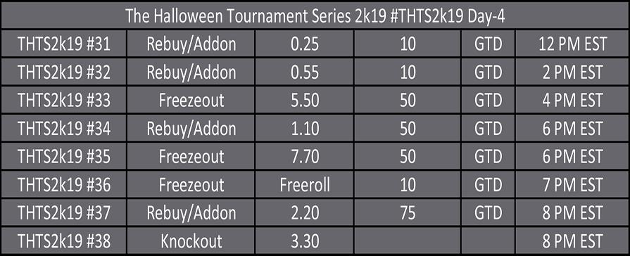 Halloween Tournament Series Day 4