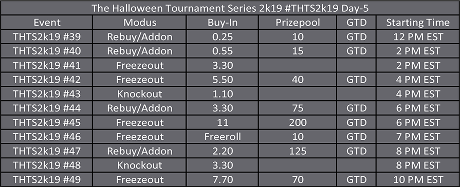 Halloween Tournament Series Day 5