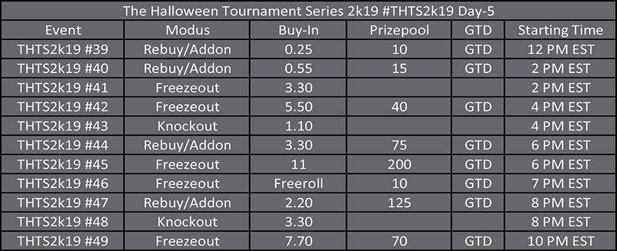 Halloween Tournament Series Day 5