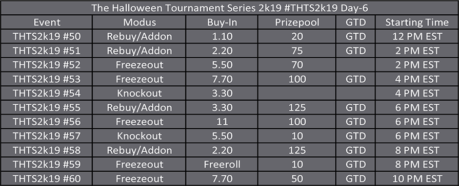 Halloween Tournament Series Day 6
