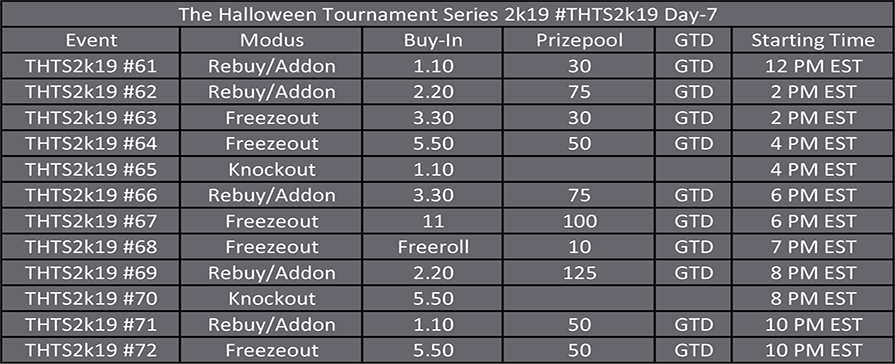 Halloween Tournament Series Day 7