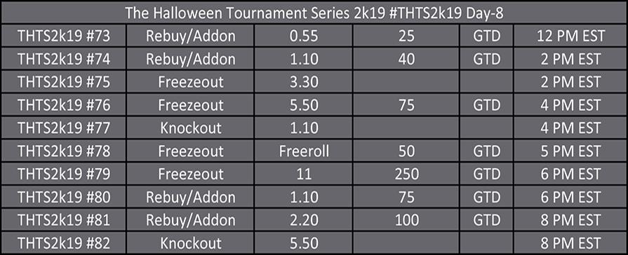 Halloween Tournament Series Day 1