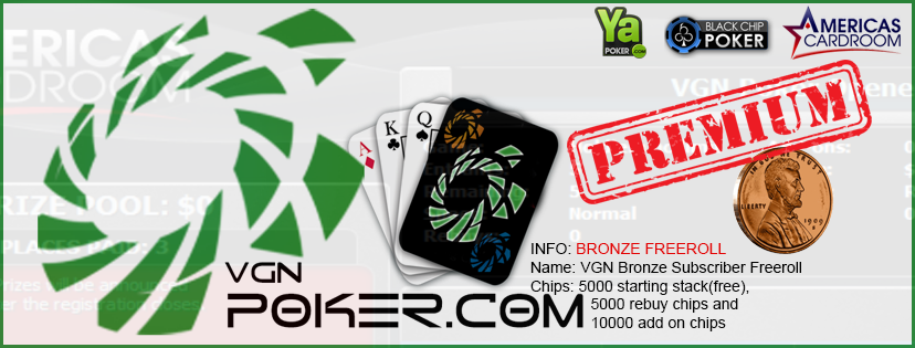 Pre Subscriber Freeroll Notice Poker Tournaments Www