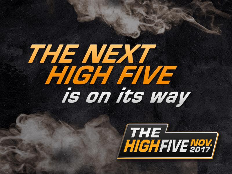 High Five Tournament Schedule