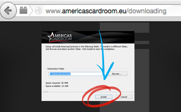 Americas Cardroom Download Step 1