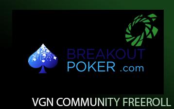 Breakout VGN Community Freeroll