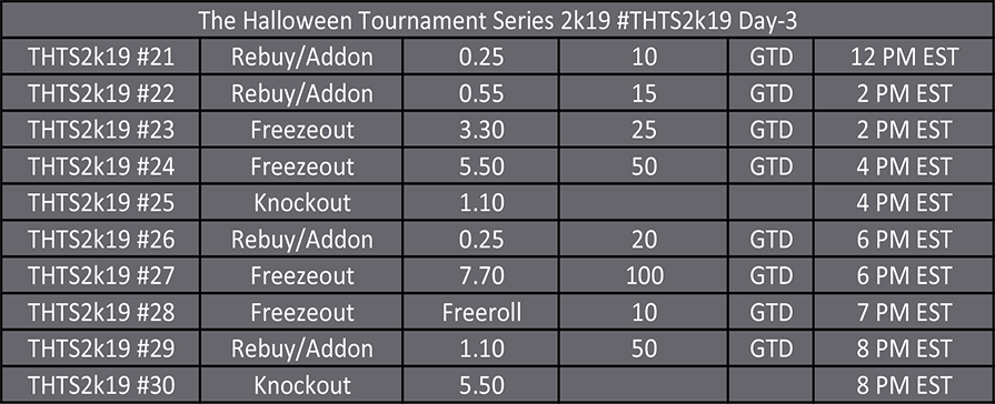 Halloween Tournament Series Day 3