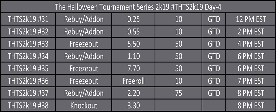 Halloween Tournament Series Day 4