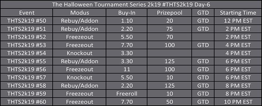 Halloween Tournament Series Day 6