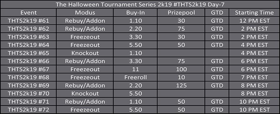 Halloween Tournament Series Day 7